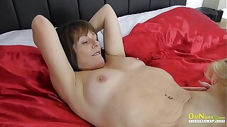 OldNannY Full-grown British Lesbians Licking