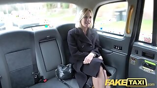 Fake Taxi Mature Milf gets her beamy pussy lips stretched genuine