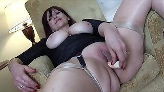 Big tits Adult babe teases and masturbates with her toy