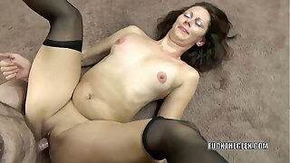 Mature brunette Trisha Wonder takes some dick from a geek