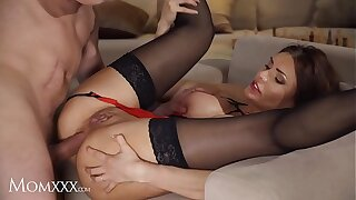 MOM.XXX Big tits milf Kitana Lure gets a mature anal fucking in lingerie