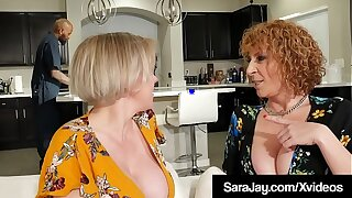 Stone-blind Divorced Diva Sara Jay Dark Dicked By Big Black Cock!