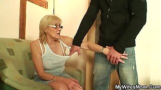 Scrawny old mother in law taboo cock riding