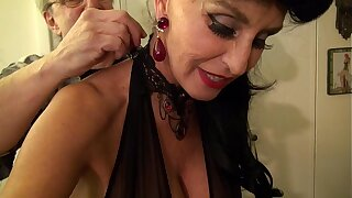 Granny goes Black-Potty-mouth White GILF takes 3-way BBC fuck of her frolic