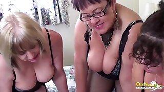 OldNanny Busty horny lesbians in threesome