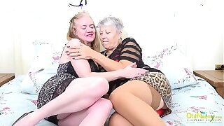 OldNannY Mature Lesbian Licking Occasion coupled with Toys