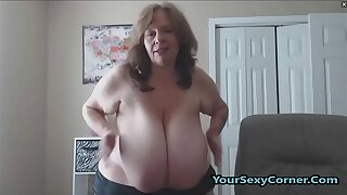 BBW Granny Has The Biggest Unproficient Saggy Tits In USA