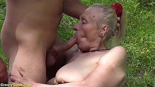 chubby 85 years old granny first time alfresco sex