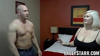 LACEYSTARR - GILF seduces big dicked close off into hard pounding
