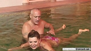 The reward be fitting of a swimming mission is a changeless Cock in Samantha's GILF Pussy