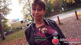 UGLY and OLD - MILF, almost GRANNY public fuck & no regrets Rubina dates66.com