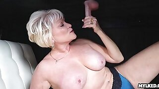 Cum atop This MILFS Tits at the Milking Table