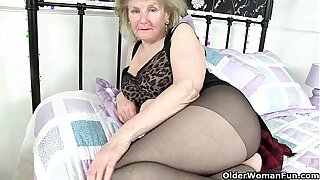 British granny Clare Cream lowers will not hear of tights coupled with plays