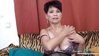 EuropeMaturE Solo Lady Self Stimulation Rigidity