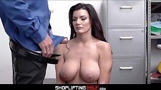Big Tits Big Ass MILF Shoplifter Becky Bandini Makes Fuck Deal With Officer