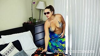 Hot MILF With Big Ass Fucks relative to Thong Bikini