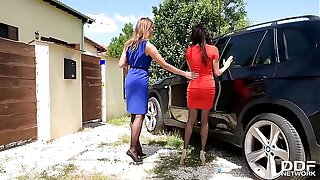 Luxury Foot Fetish sluts Anissa Kate & Ani Blackfox Fuck Outdoors