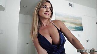 Hot Mom Aubrey Black Fucks Husband While Role Playing His Measure Nipper