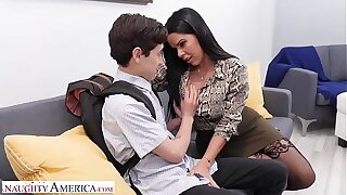 Naughty America Diamond Kitty fucks student to leave alone his indiscretion shut