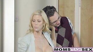 Lucky Son Fucks Step-Mom Alexis Fawx Spasmodically Teen Lily Rader