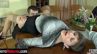 Good-looking milf invites her hung neighbor for a hard liquor and a hardcore fuck