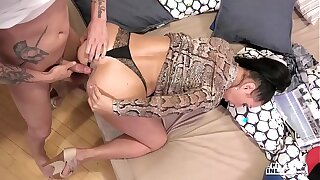 Freakish INLAWS - Raunchy anal sex with Russian MILF Eva Ann with the addition of young stepson