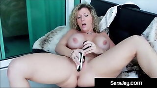 PAWG Star Sara Potter about Dildo Fucks Her Hot Thick Creamy Twat!