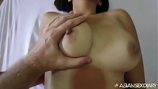Asian Sex Slate - MILF meets get possession of white vacationer to get fucked