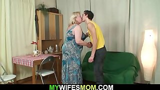 Become man finds huge mother inlaw rides his cock