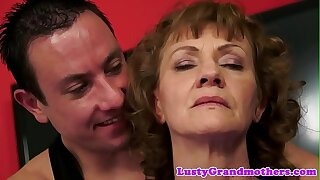 Alluring grandma banged hard by her yoga teacher