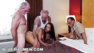 BLUE PILL MEN - Three Old Men And A Latin Nipper Named Nikki Kay