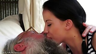 Elderly young kissing compilation