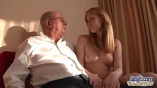 Superannuated Young Porn Grandpa likes to fuck young girls and lick pussies
