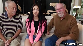 Crystal Rae Fucks Be transferred to Hell Out Of Elderly Man!