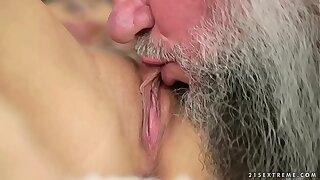 Pussy addict grandpa fucks Dominica Hell-hound