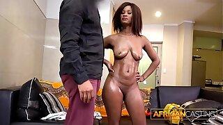 Ebony Beauty Fucked Apart from Undertaking Agent