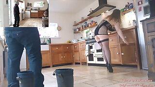 Dashing UK MILF Teasing & Playing with Window Cleanser