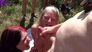 Mom and stepdaughter were dirty used apart from countless men on tap a bathing lake! Accoutrement 4
