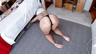 Mom was atop her knees with only handcuffs and stepson fucked in anal