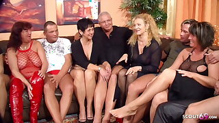 Flawless German Mature Swinger Party with 4 Couple Change Wife