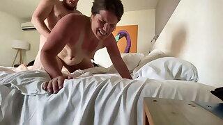 Camille gets cum in her ass