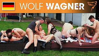 Wild open-air swinger party! Wolfwagner.com