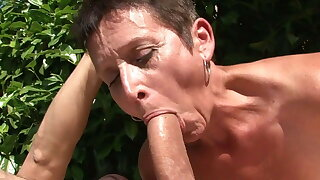 Mature housewife MILF gangbang orgy connected with BBC
