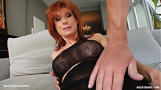 MILF hot mature lady Nina S gets a unerring cock fuck her