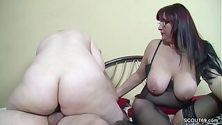 German ancient Couple Butter up Step-Daughter to Fuck in Threesome